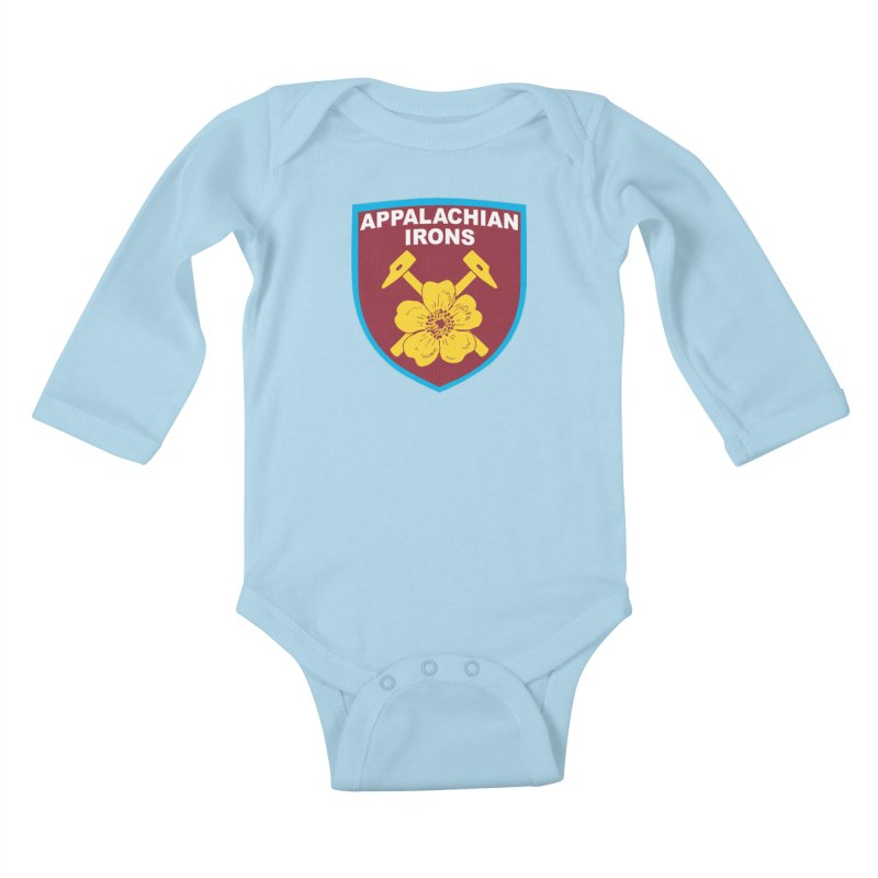 Appalachian Irons Kids Baby Longsleeve Bodysuit by American Hammers Official Team Store
