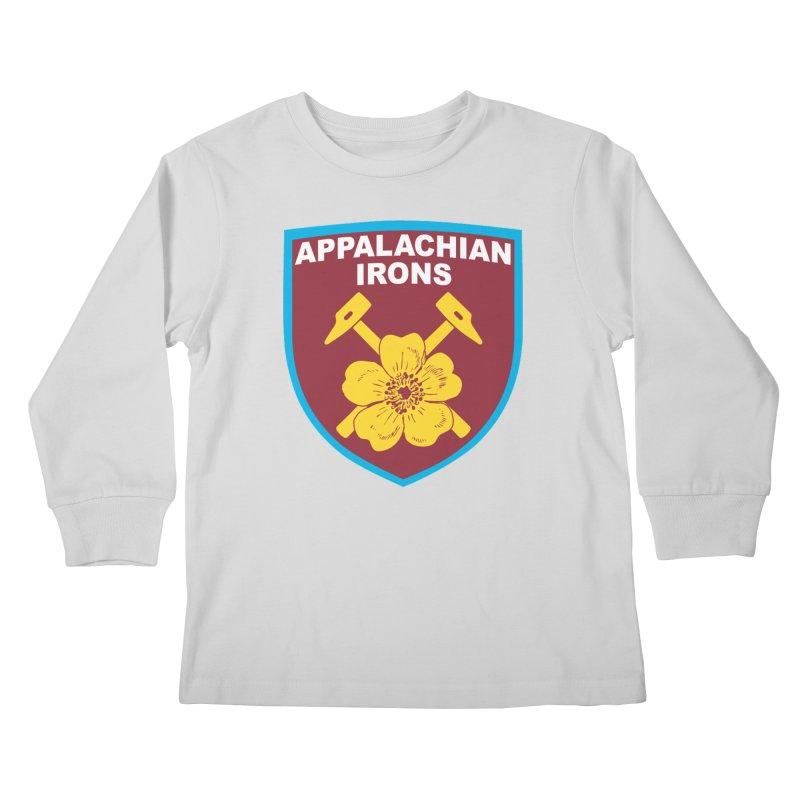 Appalachian Irons Kids Longsleeve T-Shirt by American Hammers Official Team Store