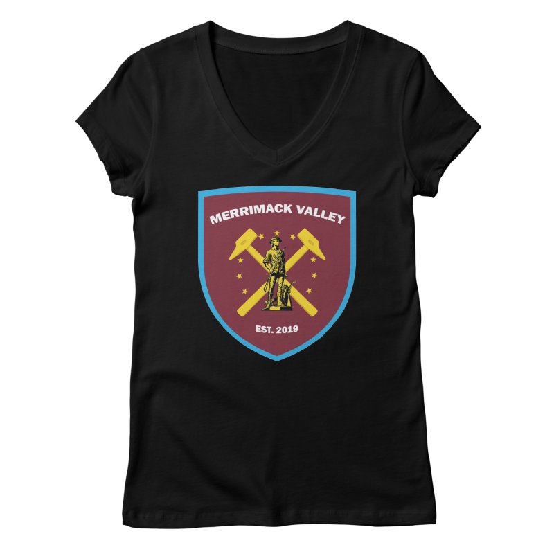 Merrimack Valley Women's V-Neck by American Hammers Official Team Store