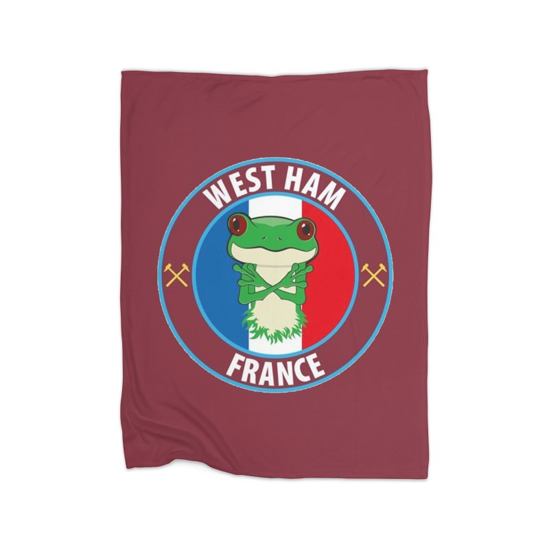 West Ham France Home Blanket by American Hammers Official Team Store