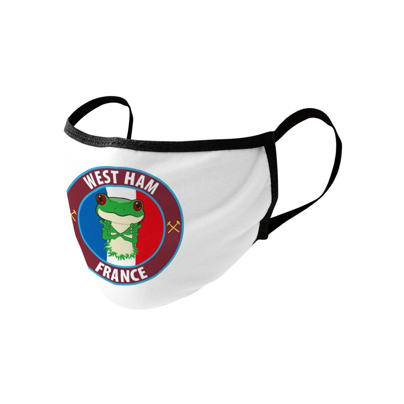 West Ham France Accessories Face Mask by American Hammers Official Team Store
