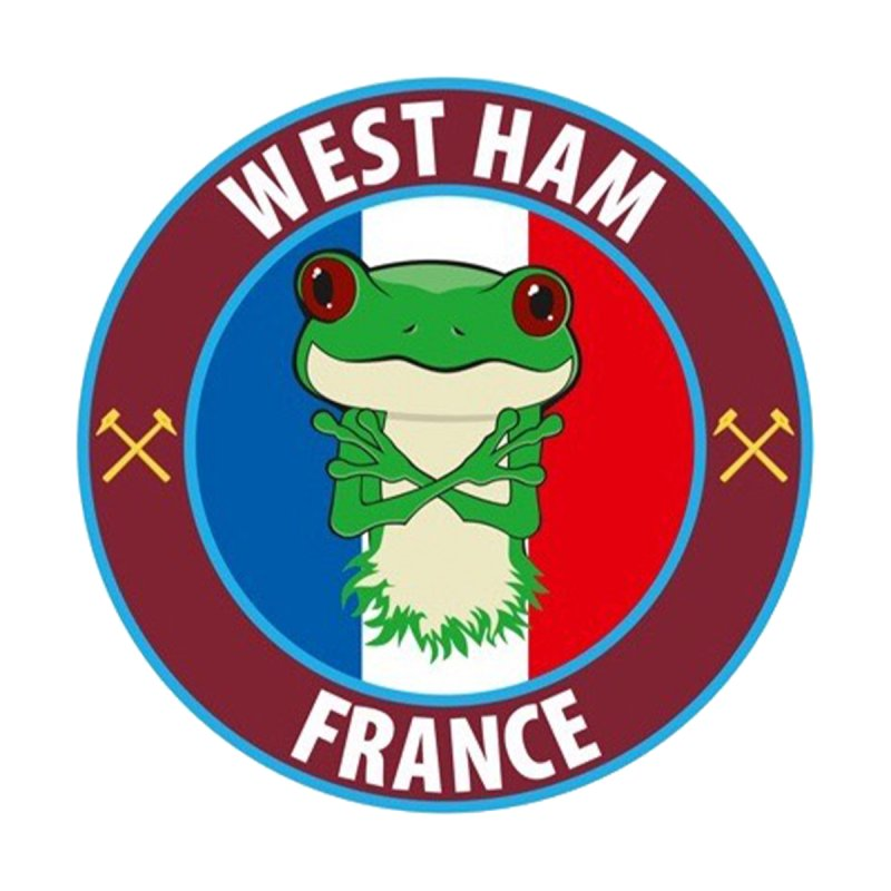 West Ham France Accessories Sticker by American Hammers Official Team Store