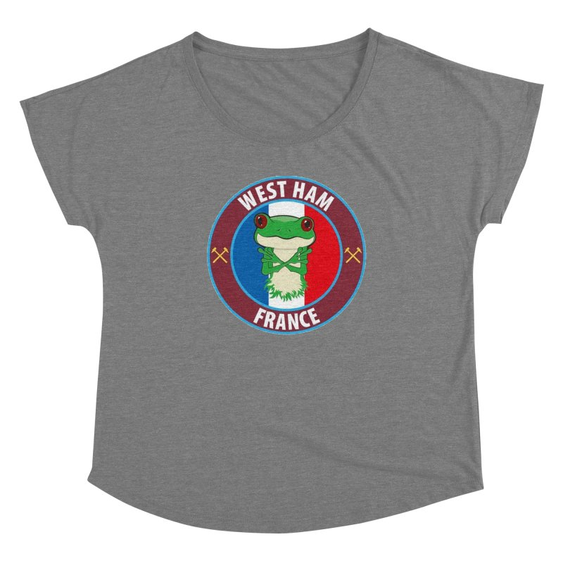 West Ham France Women's Scoop Neck by American Hammers Official Team Store