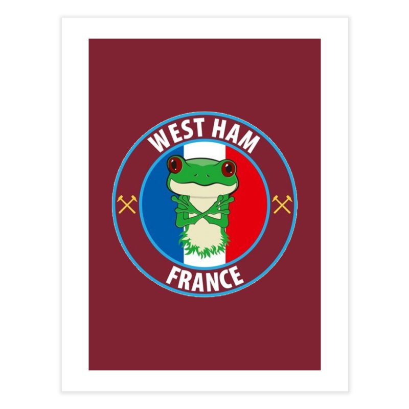 West Ham France Home Fine Art Print by American Hammers Official Team Store