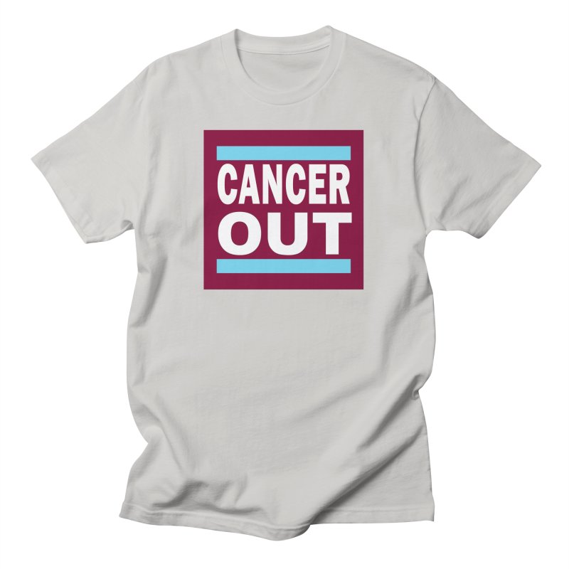 Cancer Out Men's T-Shirt by American Hammers Official Team Store