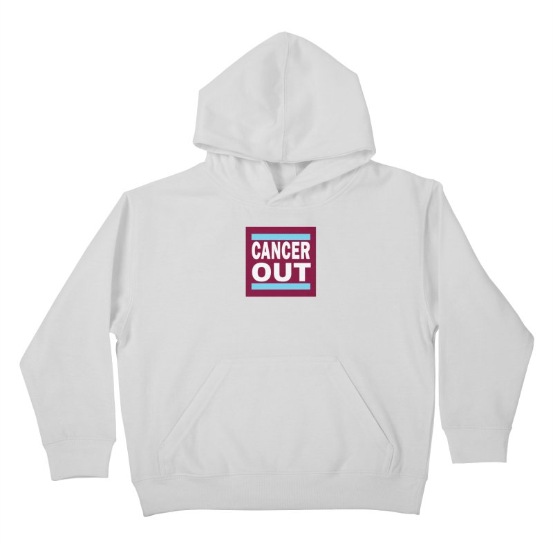 Cancer Out Kids Pullover Hoody by American Hammers Official Team Store