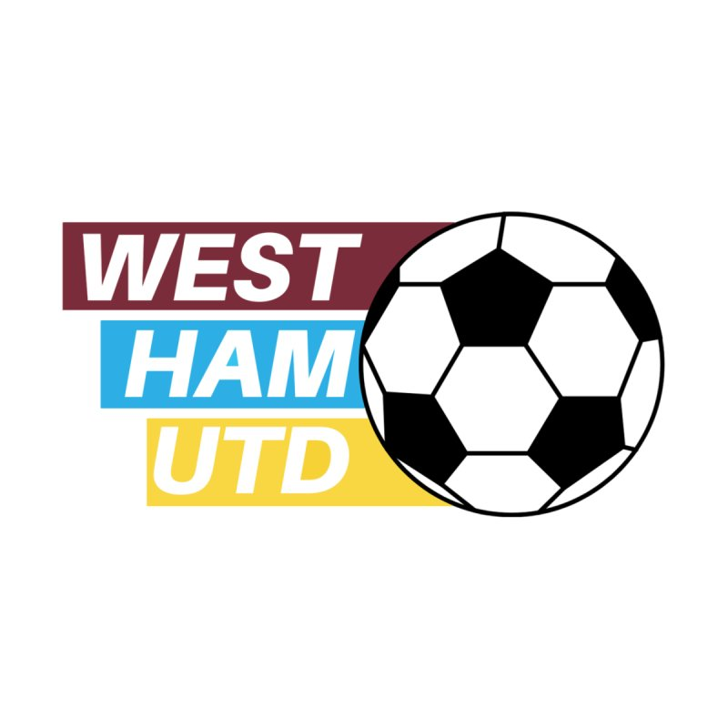 West Ham Utd Soccer Ball Accessories Face Mask by American Hammers Official Team Store