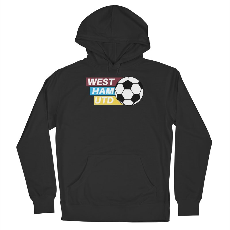 West Ham Utd Soccer Ball Men's Pullover Hoody by American Hammers Official Team Store