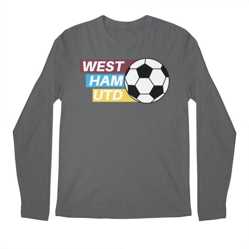 West Ham Utd Soccer Ball Men's Longsleeve T-Shirt by American Hammers Official Team Store