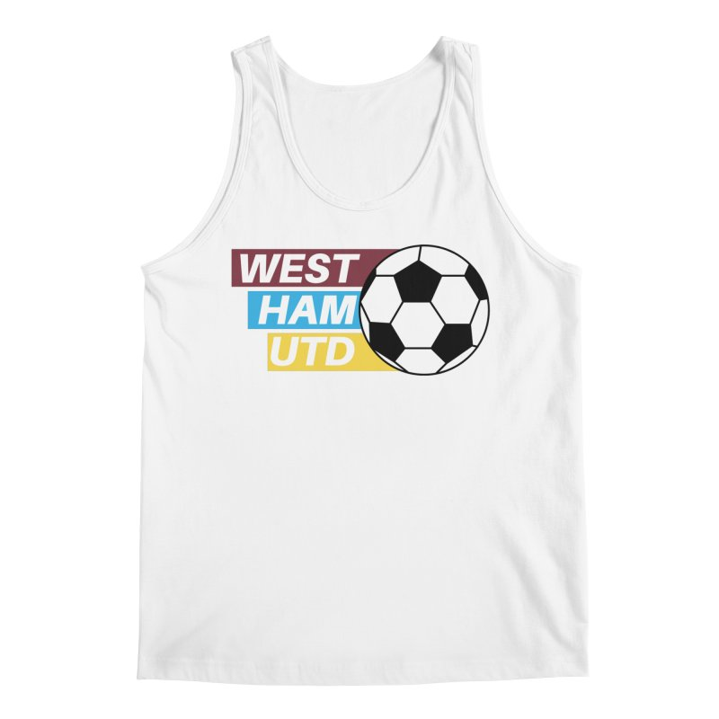 West Ham Utd Soccer Ball Men's Tank by American Hammers Official Team Store