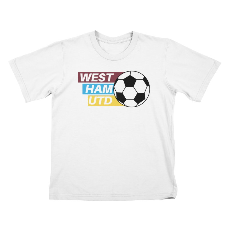 West Ham Utd Soccer Ball Kids T-Shirt by American Hammers Official Team Store