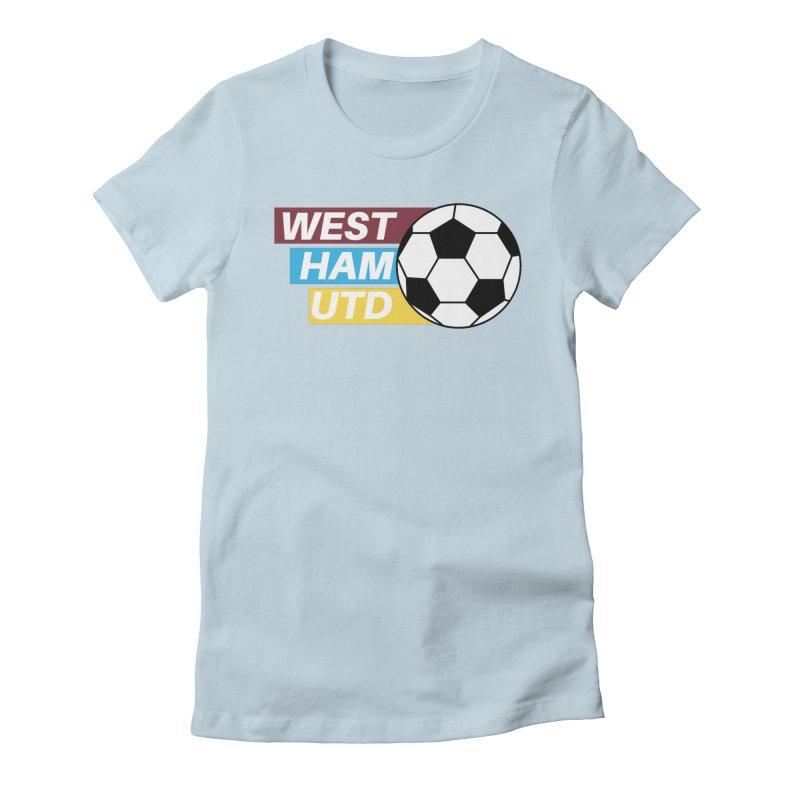 West Ham Utd Soccer Ball Women's T-Shirt by American Hammers Official Team Store