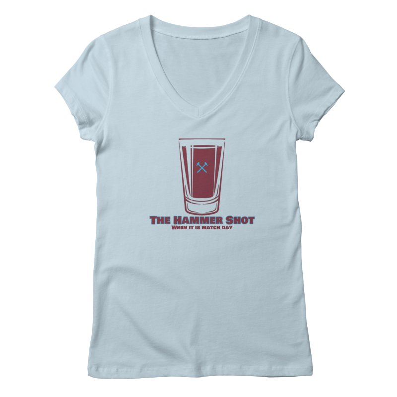 The Hammer Shot Women's V-Neck by American Hammers Official Team Store