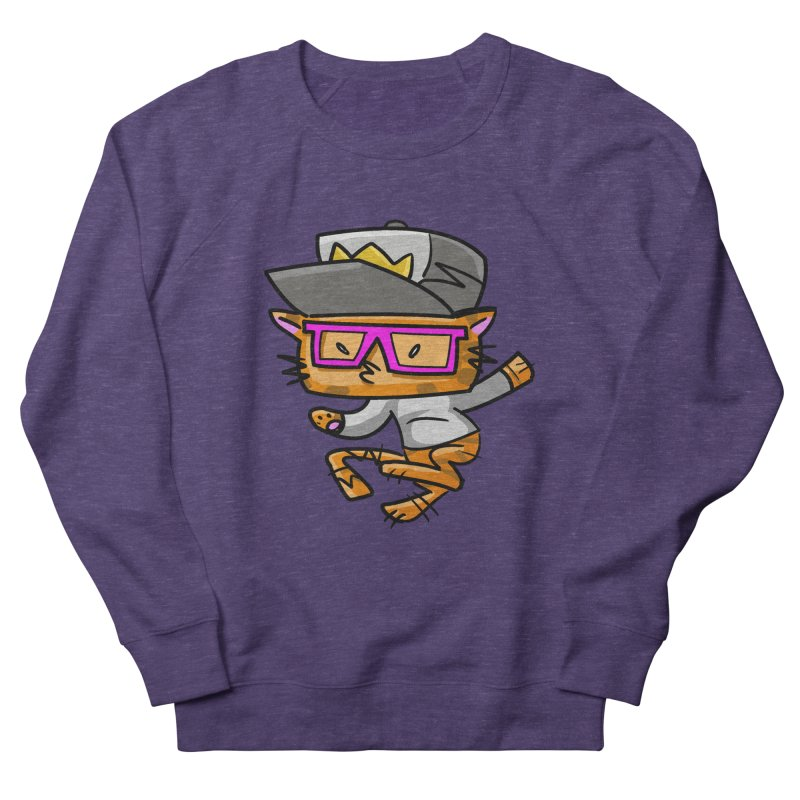 ALLEY CAT in Men's Sweatshirt Heather Purple by Alero Artist Shop