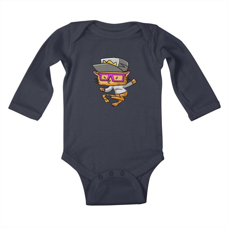 ALLEY CAT Kids Baby Longsleeve Bodysuit by Alero Artist Shop