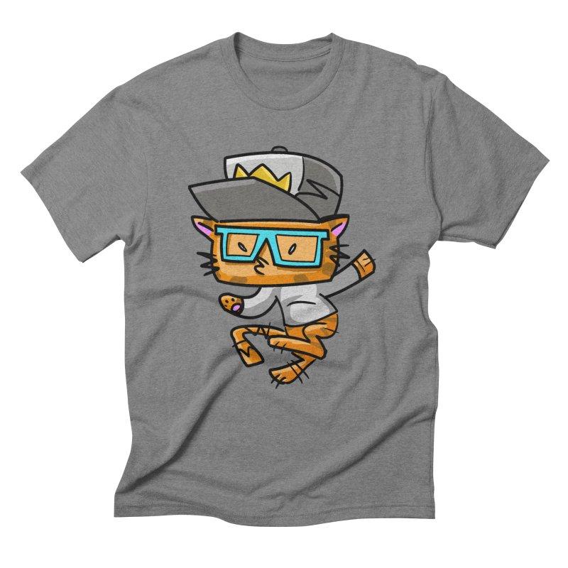ALLEY CAT BLUES Men's Triblend T-Shirt by Alero Artist Shop