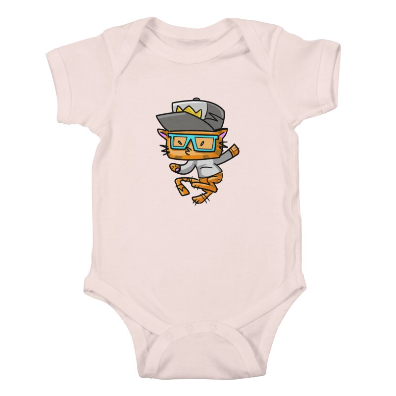 ALLEY CAT BLUES Kids Baby Bodysuit by Alero Artist Shop
