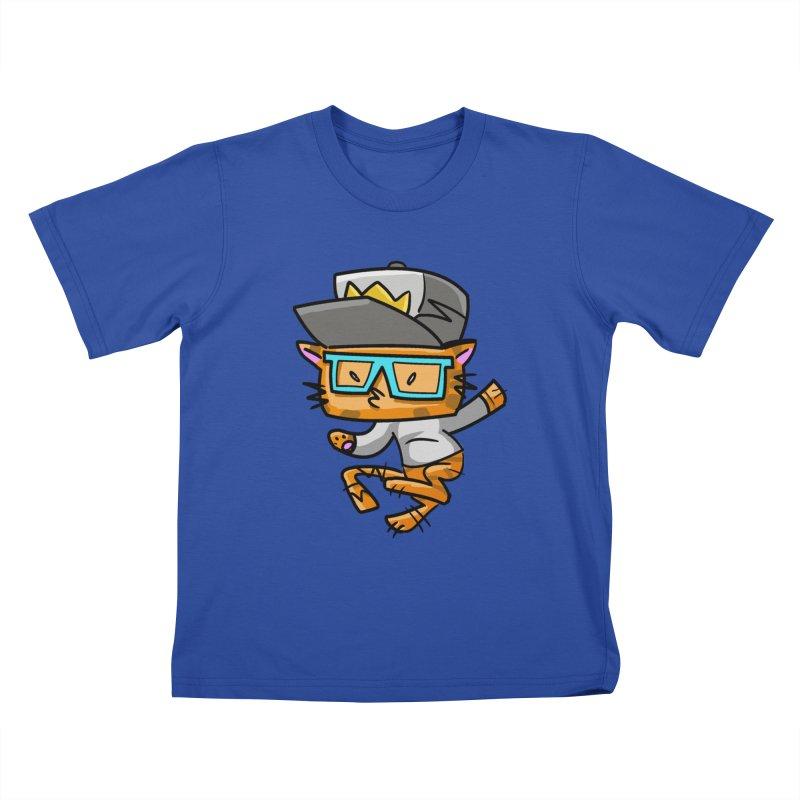 ALLEY CAT BLUES Kids T-shirt by Alero Artist Shop