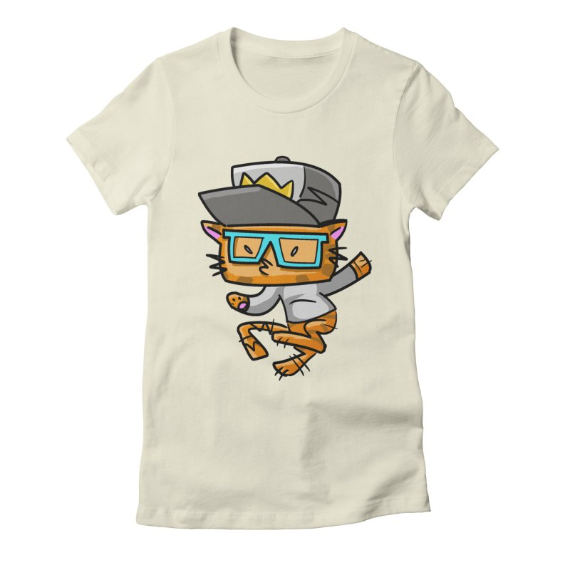 ALLEY CAT BLUES Women's Fitted T-Shirt by Alero Artist Shop