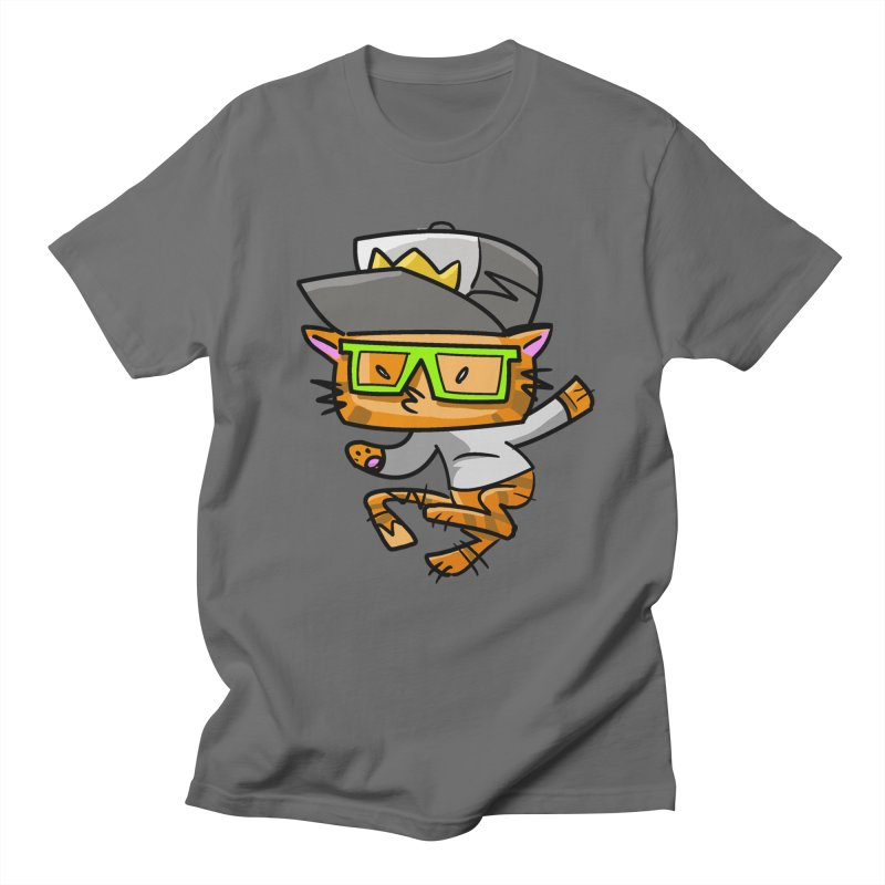 Alley Cat Green Men's T-shirt by Alero Artist Shop