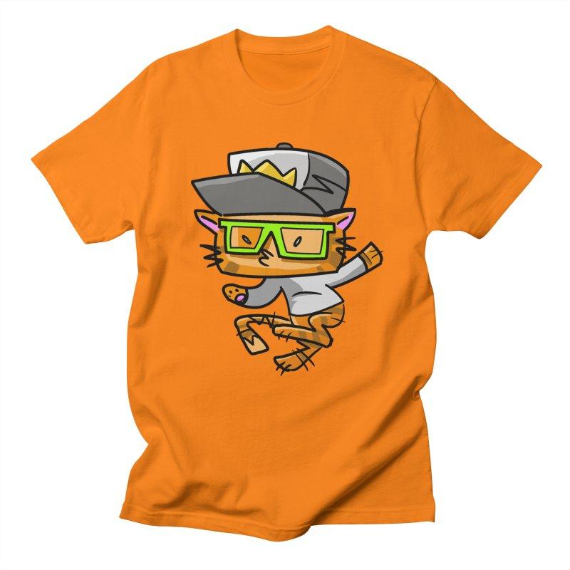 Alley Cat Green Men's T-shirt by Alero Artist Shop