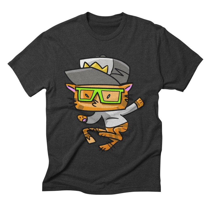 Alley Cat Green Men's Triblend T-shirt by Alero Artist Shop