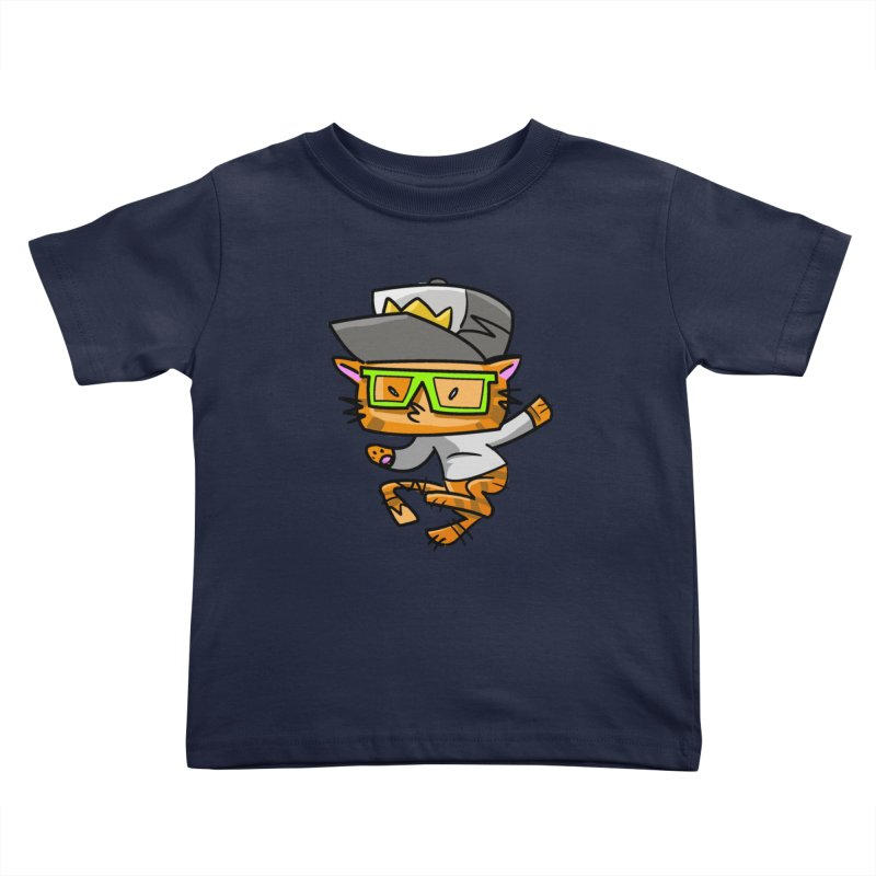 Alley Cat Green Kids Toddler T-Shirt by Alero Artist Shop