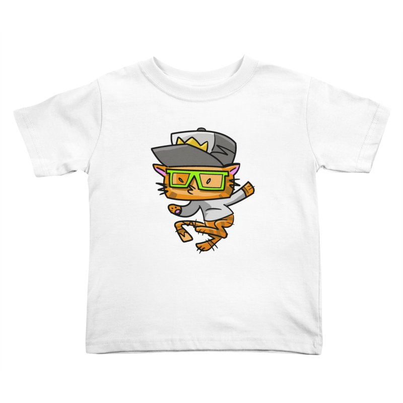 Alley Cat Green Kids Toddler T-Shirt by Alero Artist Shop