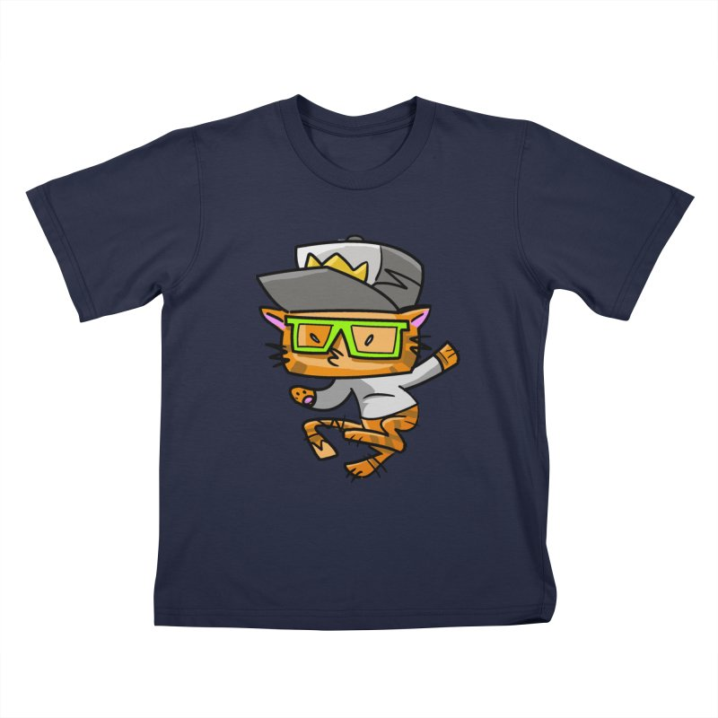 Alley Cat Green Kids T-Shirt by Alero Artist Shop