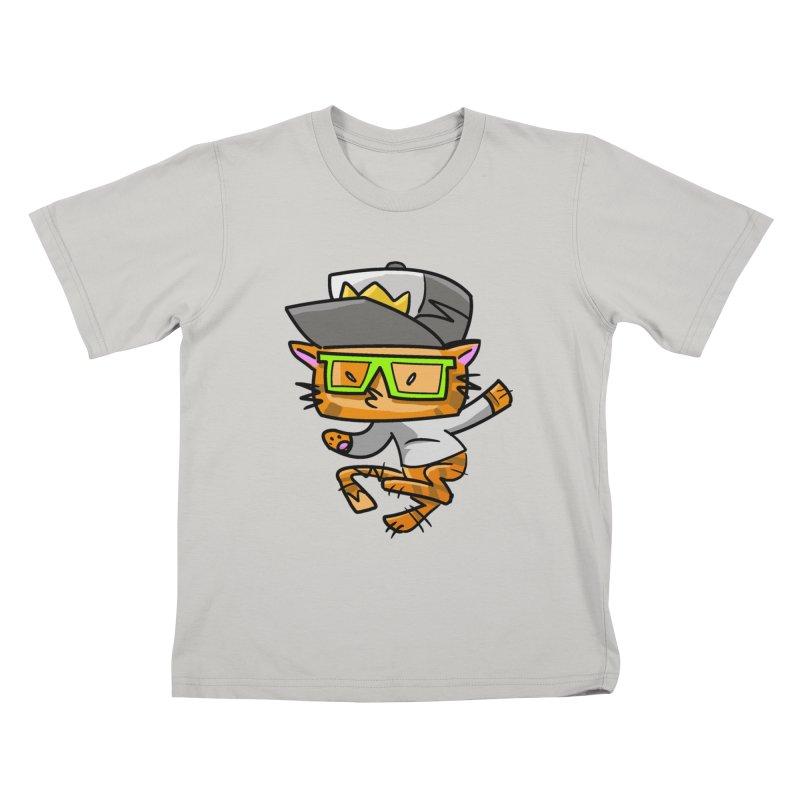 Alley Cat Green Kids T-shirt by Alero Artist Shop