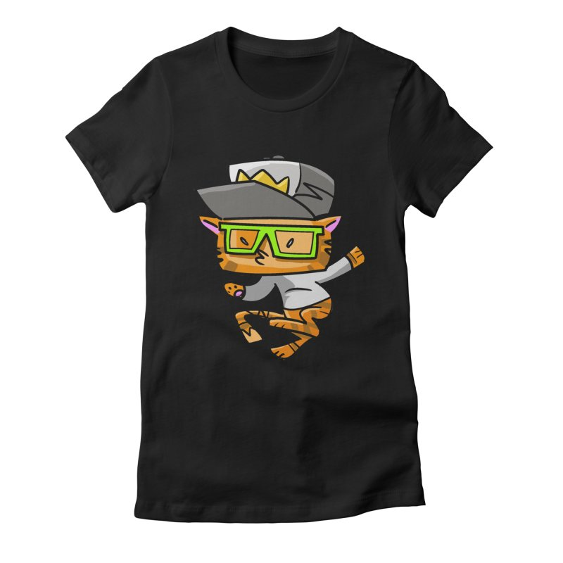 Alley Cat Green Women's Fitted T-Shirt by Alero Artist Shop
