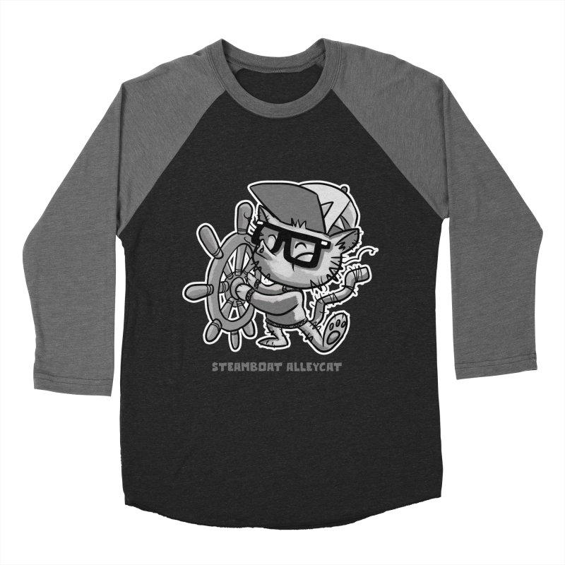 Steamboat Alley Cat Men's Baseball Triblend T-Shirt by Alero Artist Shop