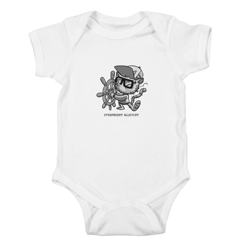 Steamboat Alley Cat Kids Baby Bodysuit by Alero Artist Shop