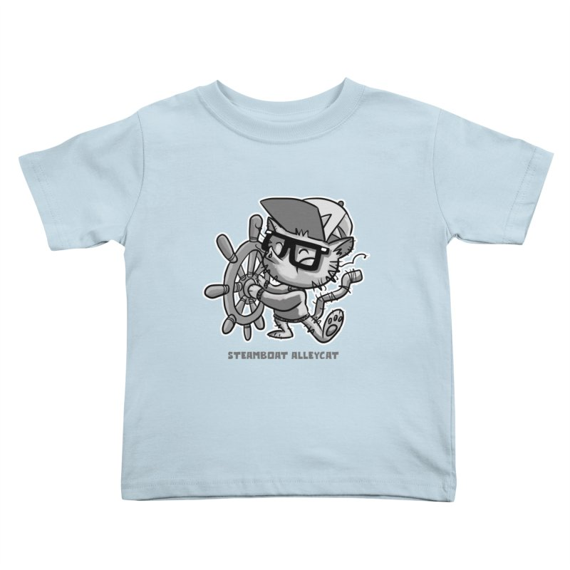 Steamboat Alley Cat Kids Toddler T-Shirt by Alero Artist Shop