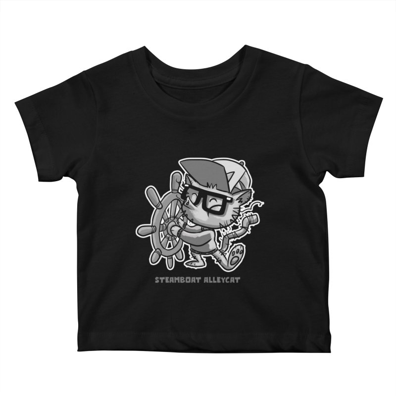 Steamboat Alley Cat Kids Baby T-Shirt by Alero Artist Shop