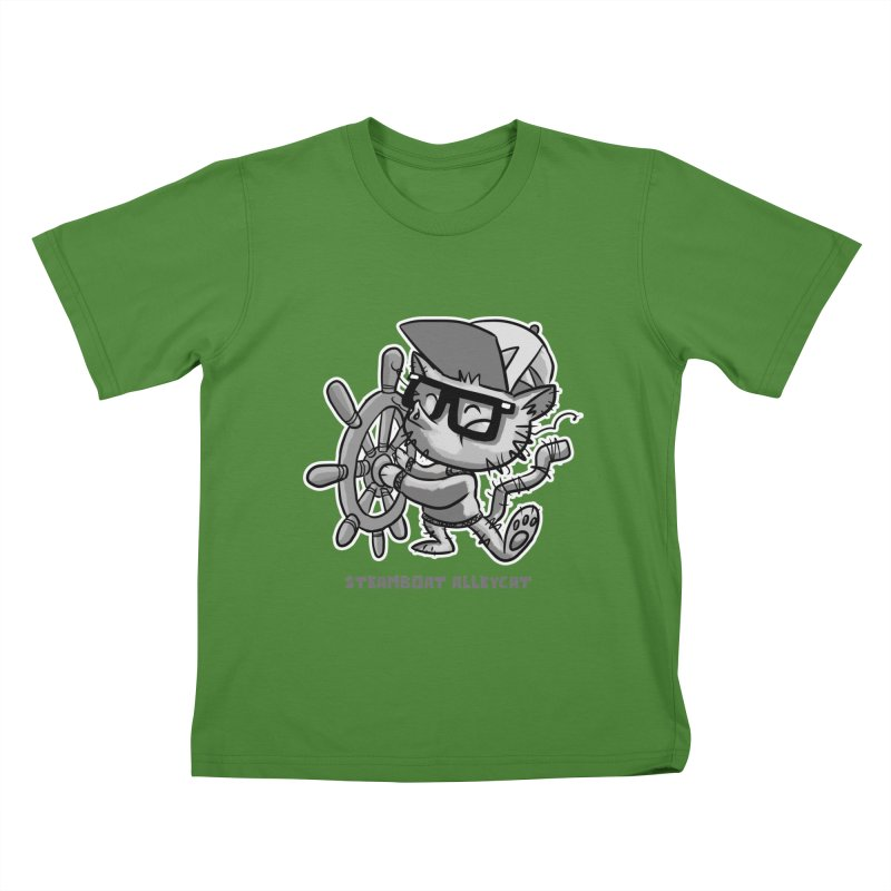 Steamboat Alley Cat Kids T-Shirt by Alero Artist Shop