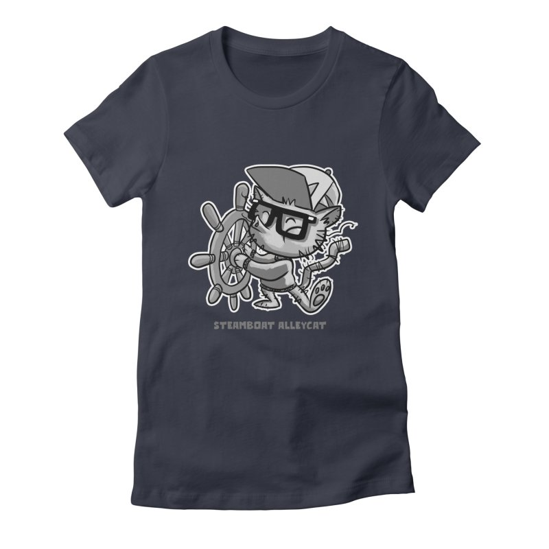 Steamboat Alley Cat Women's Fitted T-Shirt by Alero Artist Shop