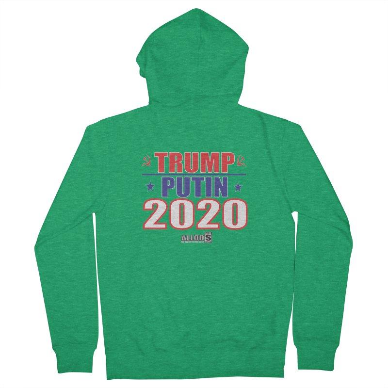 TRUMP PUTIN 2020! MAKE AMERICA BORSHT AGAIN! Men's French Terry Zip-Up Hoody by America's Last Line of Defense
