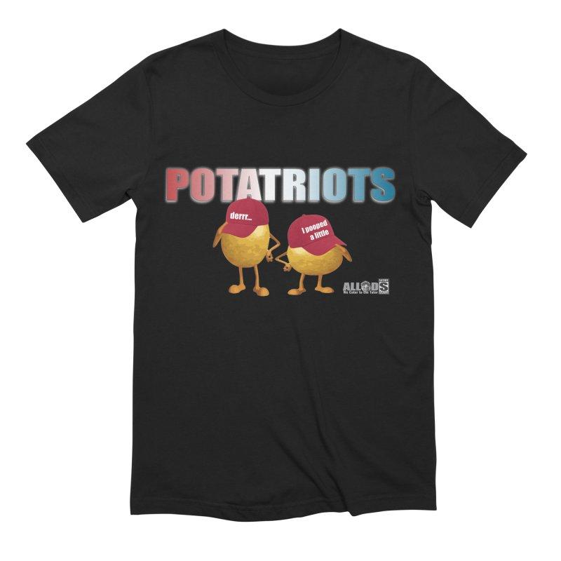 POTATRIOTS! in Men's Extra Soft T-Shirt Black by America's Last Line of Defense