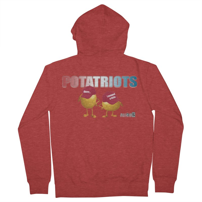 POTATRIOTS! Men's French Terry Zip-Up Hoody by America's Last Line of Defense