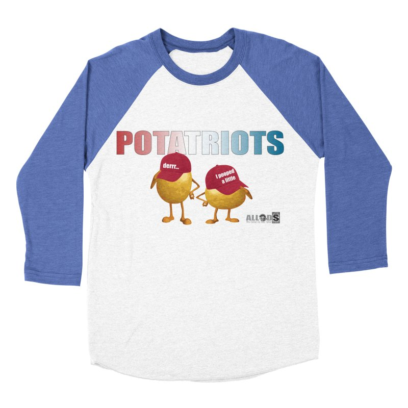 POTATRIOTS! Men's Baseball Triblend Longsleeve T-Shirt by America's Last Line of Defense