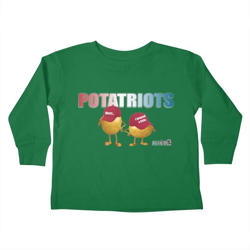 POTATRIOTS! Kids Toddler Longsleeve T-Shirt by America's Last Line of Defense