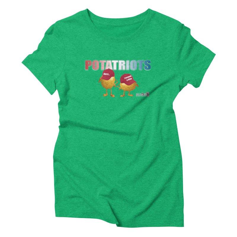 POTATRIOTS! Women's Triblend T-Shirt by America's Last Line of Defense