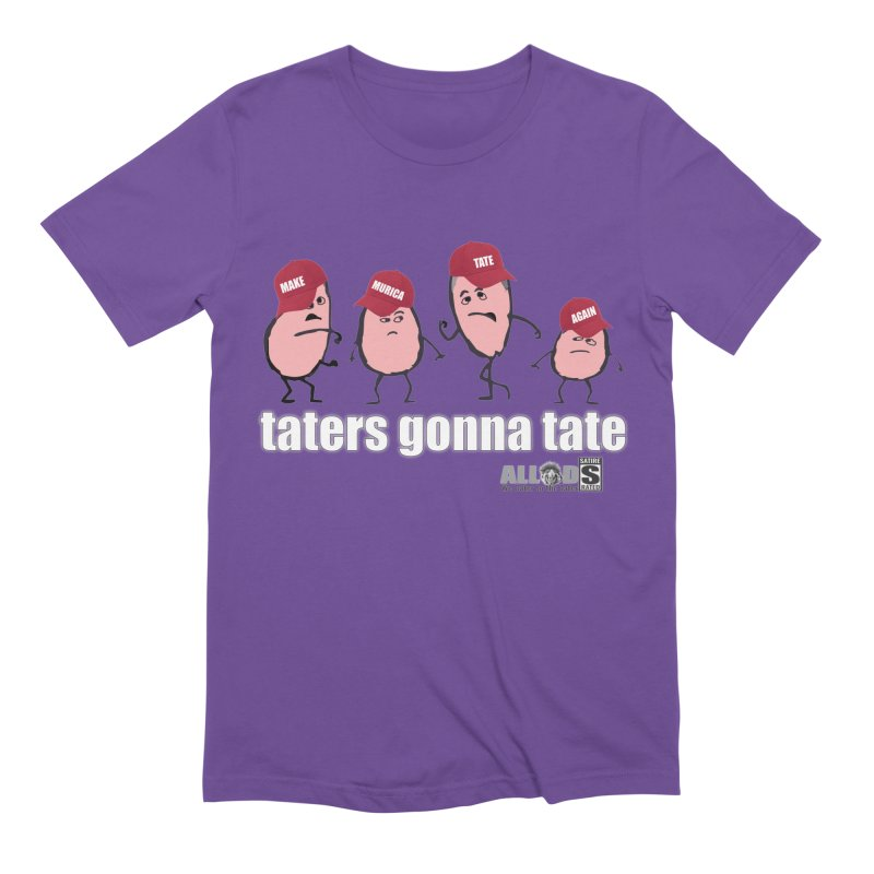 MAKE AMERICA TATE AGAIN! in Men's Extra Soft T-Shirt Purple by America's Last Line of Defense