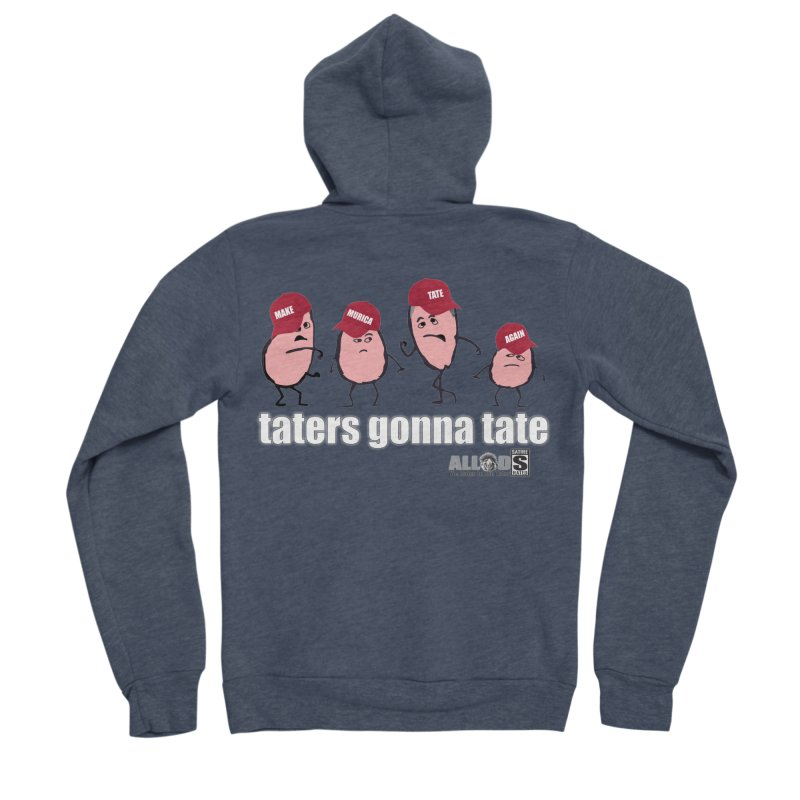 MAKE AMERICA TATE AGAIN! Men's Sponge Fleece Zip-Up Hoody by America's Last Line of Defense