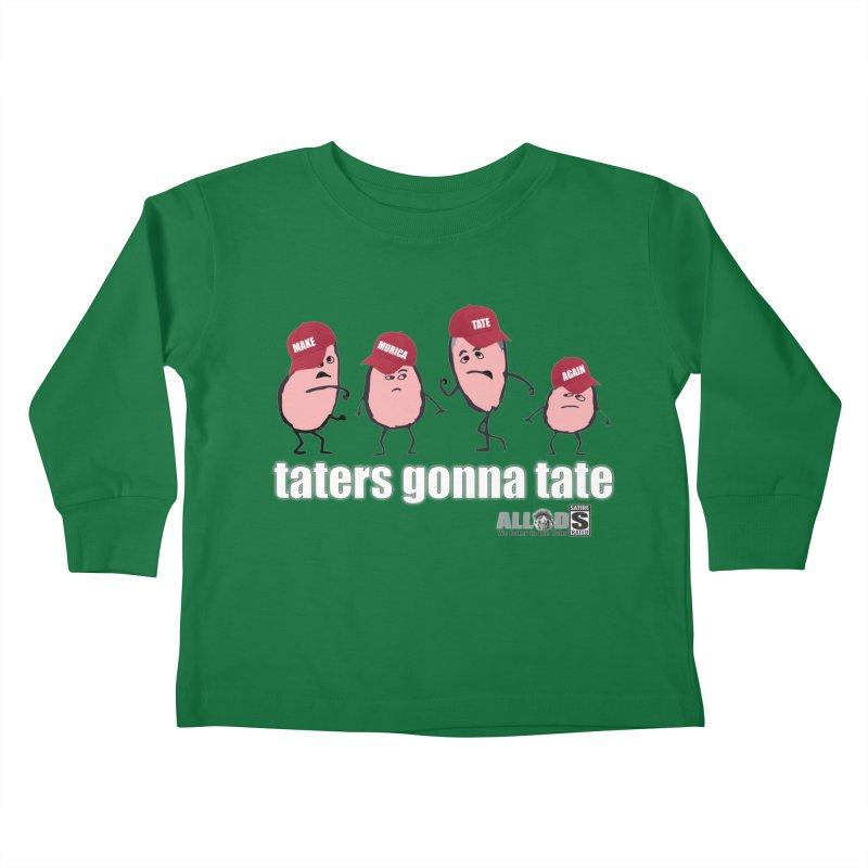 MAKE AMERICA TATE AGAIN! Kids Toddler Longsleeve T-Shirt by America's Last Line of Defense