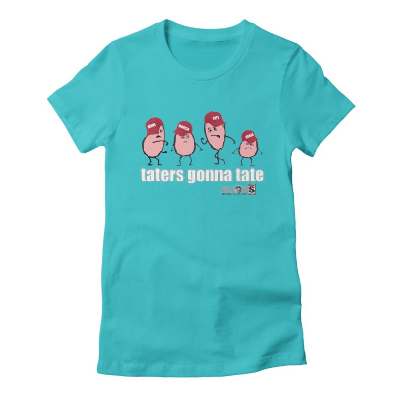 MAKE AMERICA TATE AGAIN! Women's Fitted T-Shirt by America's Last Line of Defense