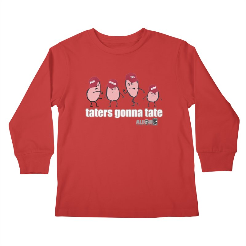 MAKE AMERICA TATE AGAIN! Kids Longsleeve T-Shirt by America's Last Line of Defense
