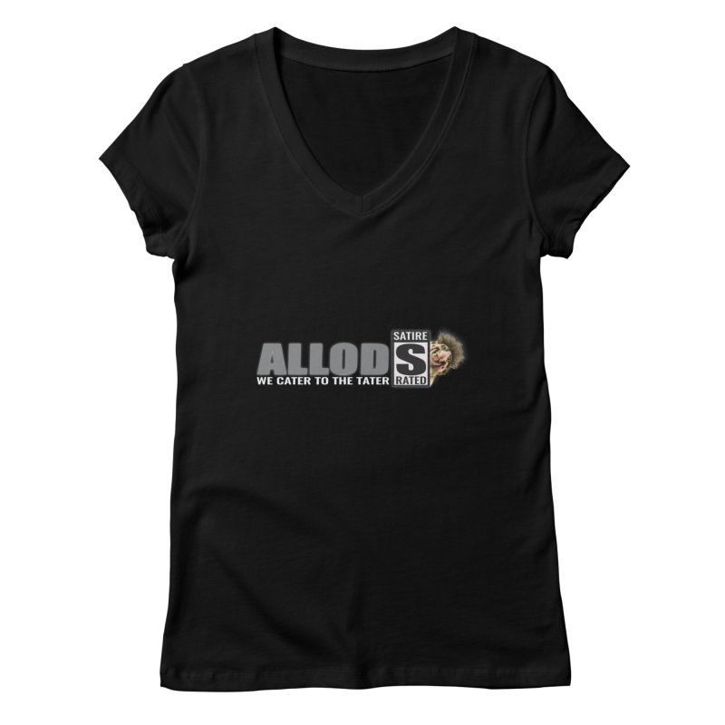 ALLOD The Logo Featuring Busta Troll Women's V-Neck by America's Last Line of Defense