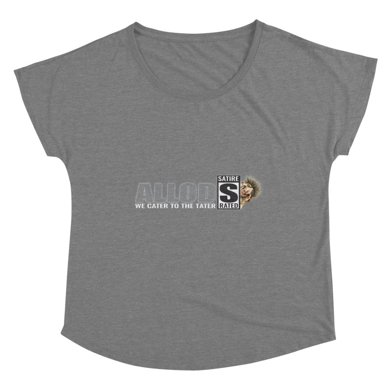 ALLOD The Logo Featuring Busta Troll Women's Scoop Neck by America's Last Line of Defense